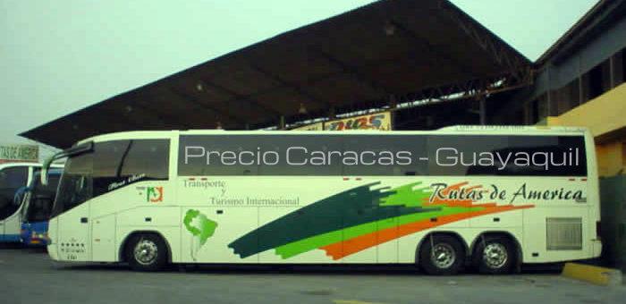 Precio Rutas de America Caracas Guayaquil