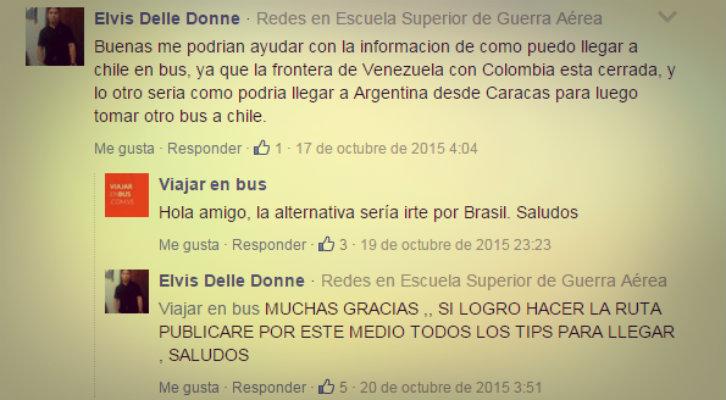 Viajar a Chile bus