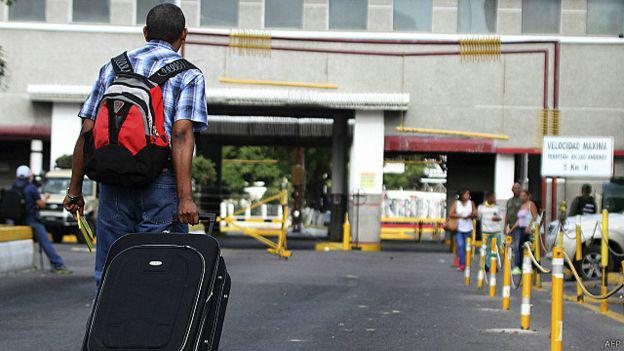 Paso por colombia de Venezuela