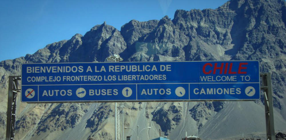 Paso de los libertadores Entrada a Chile