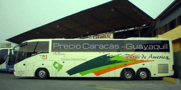 Precio Rutas de América Caracas Guayaquil
