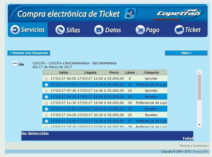 Pasaje desde Cúcuta hasta Bucaramanga con Copetran