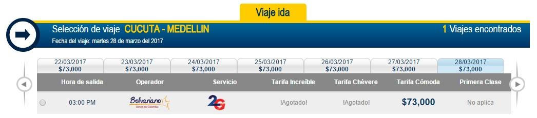 Pasaje desde Cúcuta hasta Medellín