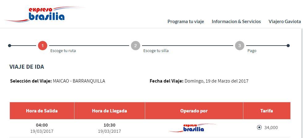 Pasaje desde Maicao hasta Barranquilla