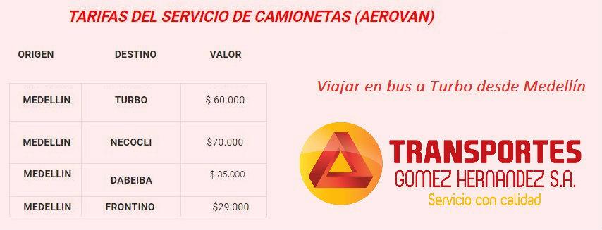 Pasaje desde Medellín hasta Turbo con Gómez Hernández
